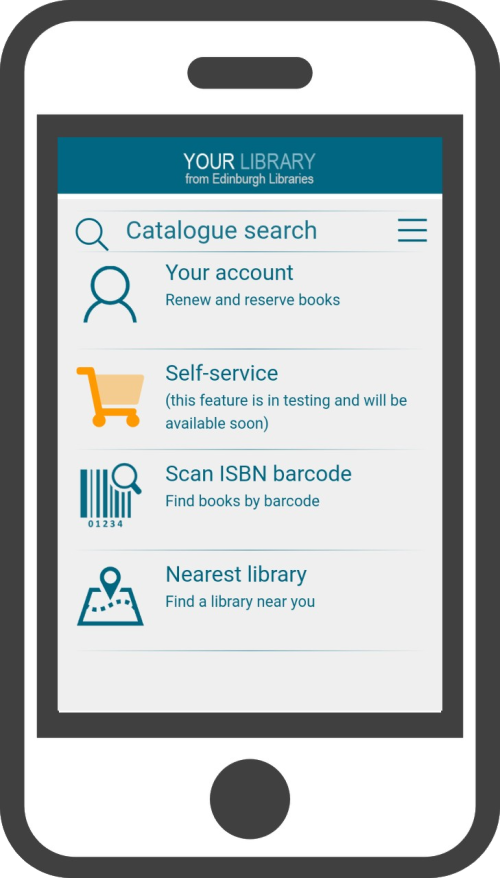 Advert for Edinburgh Libraries app