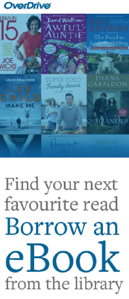 OverDrive audiobook advert