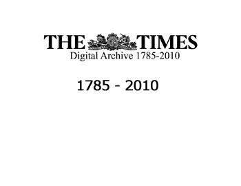 The Times Newspaper Digital Archive